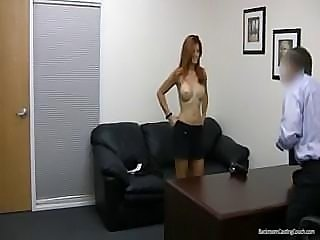 Redhead took a while to make up her mind, but when she did...