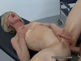 Mature granny blonde Marie  fucking with her doctor at the clinic