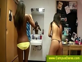 College girls filming each other naked  free