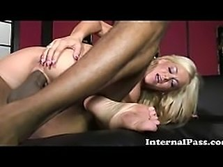 Busty Blonde Wife Fucks Some Black Cock