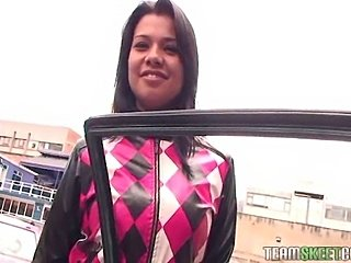 Horny latina fucked hard by a new friend