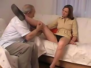 Old Grandpa taboo sex with daughter