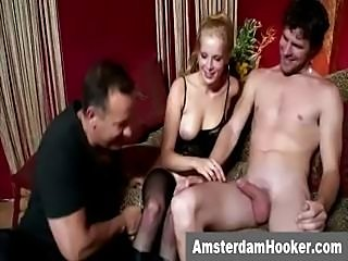Dutch prostitute gets a facial