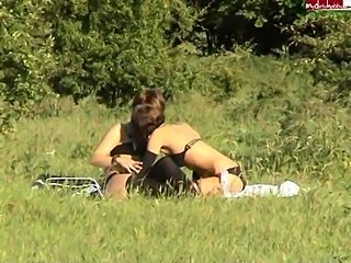 Another time lesbian outdoor sex