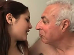 Sabrina and an old guy  free
