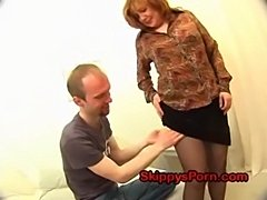 Russian milf sucks and fucks  free