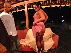 Monica shows off her epic ass, gets eaten, sucks some dick, takes it in her...