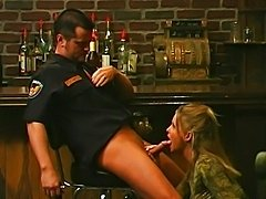 MILF fucked by security guy