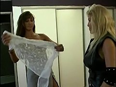 Girls in Love - Mature Lesbian Biker seduces a Pretty Woman