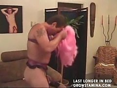 Man dressed up like a lady and fucked3  free