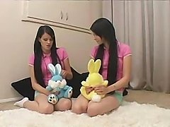 Twins - Teen Sisters Being Taught By Father And Wife