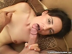 Stephanie swallows - horny mom sucking a hard meat  free