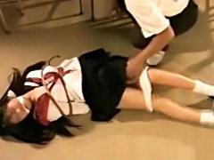 Schoolgirl asian tiedup and tortured in the classroom