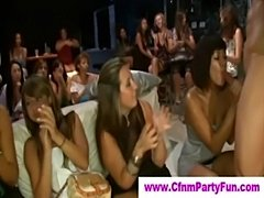 Cfnm babes at a male strip party  free