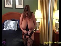 Big Tits Babe Maria Moore puts on her favorite underwear