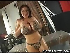 Daphne Rosen get oiled up and fucked