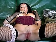 French amateur MILF self anal fisting.