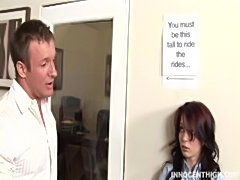 Cute brunette Jessi Palmer getting her pussy fucked hard by the dean