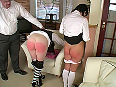 Best friends punished hard spanked in the ass