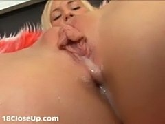 Watch julia's orgasm and pussy juices in close-up!  free