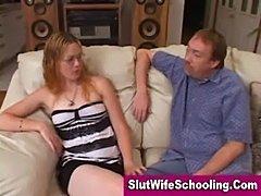 Blonde girl next door learning how to deepthroat  free
