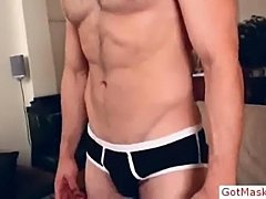 Masked dude stroking and wanking his cock by gotmasked