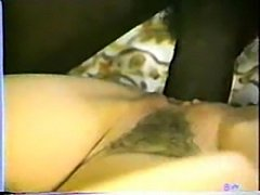 Classic interracial - hot brunette gets a big black cock  free