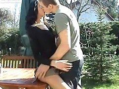 amateur couple fuck in the garden