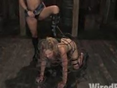 19yr old hottie is tied up and dominated by vicious Sandra Romain