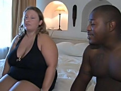 Fat chick taking a black cock in hot flick