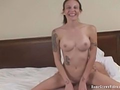 HomegrownVideo - Hayden St. Clair Takes on two cocks atonce.
