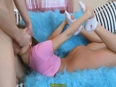 Flexible teen gets properly banged  free