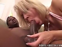 Milf gets excited for a big black cock