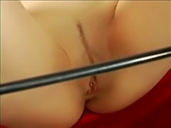 Slavegirl Lene pussy needle punished