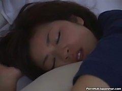 Sleeping asian pussy stuffed