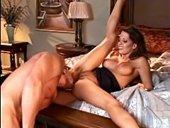 Sexy big tit stewardess goes home to fuck