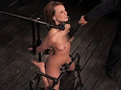 Hot Redheaded Beauty Gets Into A Hard BDSM Moment