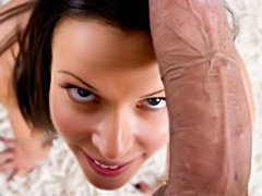 Young brunette excited to fuck huge cock