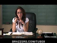 Sexy busty school teacher fucks her students bigdick...