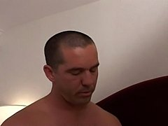 Horny tranny getting a stud's ass rammed hard.