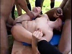 Skinny Slut - BBC Gangbang ALL HOLES - xHamster.com