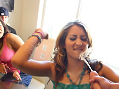 Dirty Teen Natalia gets cacooned in cum!