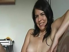 This cute brunette really gets it off on watching her BF masturbate