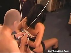 Marion has a fetish session with two guys