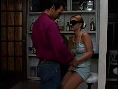 Blindfolded girl shaved pussy hardcore