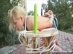Russian lesbian tied up and fucked  free