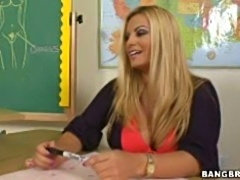 Milf teacher with juicy bigtits doggyfucked in the classroom