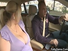 Sexy bbw gives head in the car then gets fucked  free