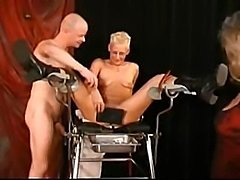 She spreads those legs wide to get her pussy fisted and played with