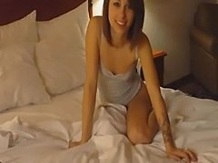 Very pretty brunette homemade video  free